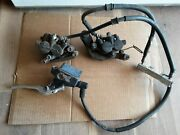 Honda Vf700c Magna Front Brakes Left And Right Calipers Master Cylinder Lines Oem