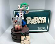 New Zippo 1998 Limited Edition Popeye And Olive Car Lighter And Music Box Set