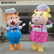 2020 Cattle Cow Mascot Costume Suits Cosplay Party Game Outfits Clothing Ad Top