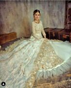 White Long Anarkali New Wedding Gown Front Cut Frill Style Skirt Designer Gown