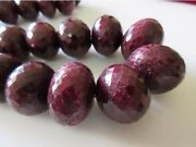 20mm To 27mm Huge Rare Natural Ruby Faceted Rondelle Beads 20 Inch Strand Gds84