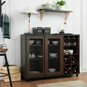 Liquor Cabinet Bar Cabinet With Wine Storage Sideboard Buffet Table Credenza