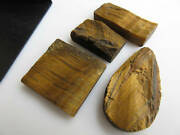 4 Pieces Huge 24mm -37mm Raw Rough Tiger Eye Mix Shaped Specially Jewelry Bb470