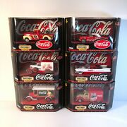 Vtg 1998 And 1999 Matchbox Collectibles Coca Cola Brand Cars Lot Of 6 - New In Box