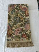 Corona Decor Company Large Flowered Tapestry Table Runner With Fringe 58andrdquo L New