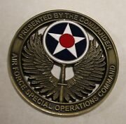 Air Force Special Operations Command Afsoc Commander Air Force Challenge Coin