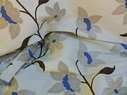 10y Scalamandre Heavy Lily Tapestry Charlize Flower Mocha Blue N White Msrp250+