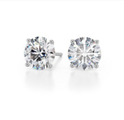 2.12ctw Round Brilliant Natural Diamond Studs Earrings G Color I1 Watch Video