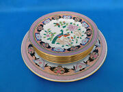 Herend Paon De Peking Plate Set With Big Serving Plate Porcelain 7 Plate