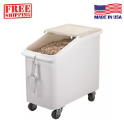 Cambro Slant Top Ingredient Bin White 27 Gal Mobile Fda Nsf Container Commercial
