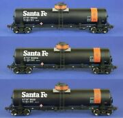 American Limited Ho Scale Gatc Tank Car Atsf Journal Oil Lot Of 3 1818/1819/1820