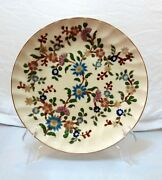 Zsolnay Antique Plate With Flower Decoration