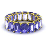 Offer Real 14kt Solid Yellow Gold 3.4 Ct Natural Diamond Tanzanite Gemstone Ring