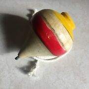 El Salvador Hand Made Wood Spinning Tops Trompo De Madera With Rope Cañamo 09