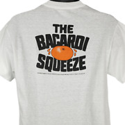 Bacardi Squeeze T Shirt Vintage 80s Rum And Orange Juice Made In Usa Size Medium