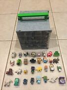 Lot Of Minecraft 32 Mini Figures And Minecraft Collector Carrying Case