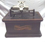 Columbia Cylinder Phonograph Case Bottom And Motor For Restoration/parts