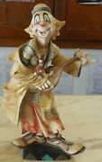 Vintage Large 12 Figure Statue Clown Fontanini Made In Italy Resin