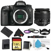Canon Eos 7d Mark Ii Dslr Camera Body Only 3 Piece Filter Bundle W/memory And 18-5
