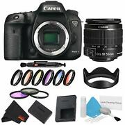 Canon Eos 7d Mark Ii Dslr Camera Body Only 9 Piece Filter Bundle W/ 18-55mm Lens