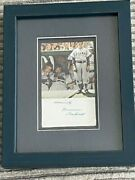 Norman Rockwell Hand-signed Offset Lithograph The Dugout 1948
