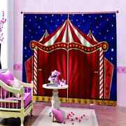 Red Circus Nice House Printing 3d Blockout Curtains Fabric Window Home Decor