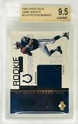 1998 Upper Deck Ud Game Jersey Peyton Manning Rc Bgs 9.5 Rare Top Sports Cards