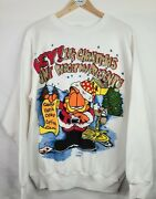 Vintage 1994 Garfield Christmas Sweater Men's Size Large