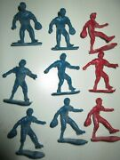 9 Plastic Baseball Players, Various Poses About 2 Inches Tall