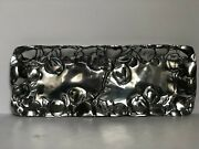 Silver Embossed Metal Fruit Platter 17 X 6 1/2 Mexico
