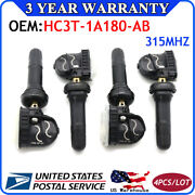Set 4 Hc3t-1a180-ab Tpms For Ford Fusion Lincoln Tire Pressure Monitor Sensor