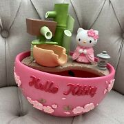 Rare Hello Kitty Relaxation Waterfall Decor Tabletop Feng Shui Water Fountain