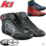 K1 - Gtx-1 Sfi-5 Auto Racing Shoes - Sfi Rated Nomex / Leather Shoes