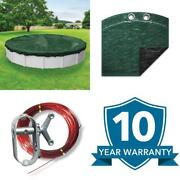 Heavy-duty 21 Ft. Round Grass Green Winter Pool Cover