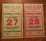 1936andndash37 Mississippi State College Athletic Association Student Tickets Rare