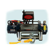 Vi Universal Kds-8.0 8000lb Pound Electric Recovery Winch 12v Steel Cable Rope
