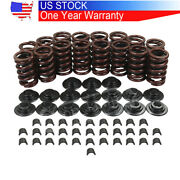 For Chevrolet Sbc 400 350 327 Valve Springs Kit With Steel Retainers Locks New