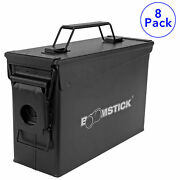 30 Cal Ammo Can Military Quality Ammunition Bullet Storage Box Black Qty 8 New