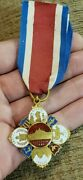 Very Scarce 1883 Boston Foreign Exhibition Renoirand039s American Medal Of Honor Look