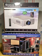 Cinema Optix Hdx-650 Led Projector,72 Hd Screen And Jvl Home Theater Package