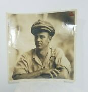 Black And White Real Photo Soldier Sailor Navy Man Rough Handsome 10 X 10 Photo