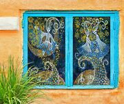 3d Moon Girl O2131 Window Film Print Sticker Cling Stained Glass Uv Block Fa