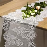 B-cool 60 X120 Inch Classic White Wedding Lace Tablecloth Lace Tablecloth Overla