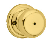 New Kwikset Privacy Function Juno Knobset 730j 3 In Polished Brass