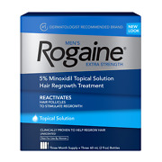 Menand039s Rogaine Hair Regrowth Extra Strength 5 Minoxidil Solution 3-month Supply