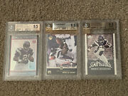 Various Adrian Peterson Beckett Graded Rookie Football Cards Sold Separately