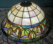 14 Style Stained Glass Ceiling Inverted Lamp Shade Jeweled Vintage Lg