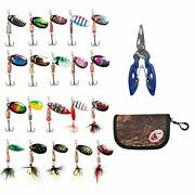 Fishing Lures Set Fishing Trout, Bass, Spinning Lures With Pliers - 21 Pcs Combo
