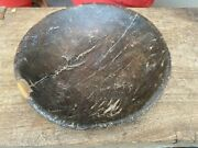 1800and039s Ancient Old Wooden Hand Carved Salad Cookies Serving Plate Himalaya Bowl