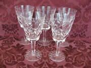 Waterford Ashling Crystal 5½ White Wine Glasses - Set Of Five 5 - Excellent